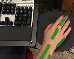 Picture C - wrist aligned with middle finger