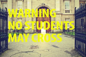 no students crossing school driveways