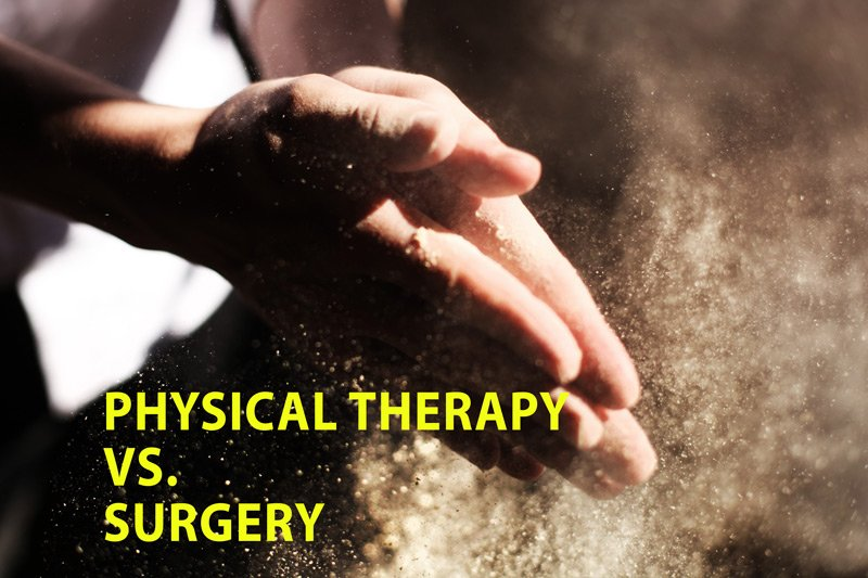 PHYSCIAL THERAPY BETTER THAN SURGERY FOR CARPAL TUNNEL