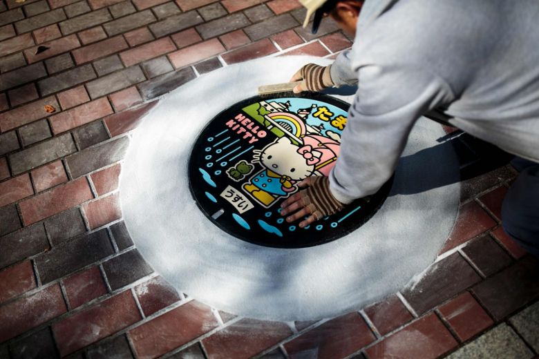 Sewer cover art