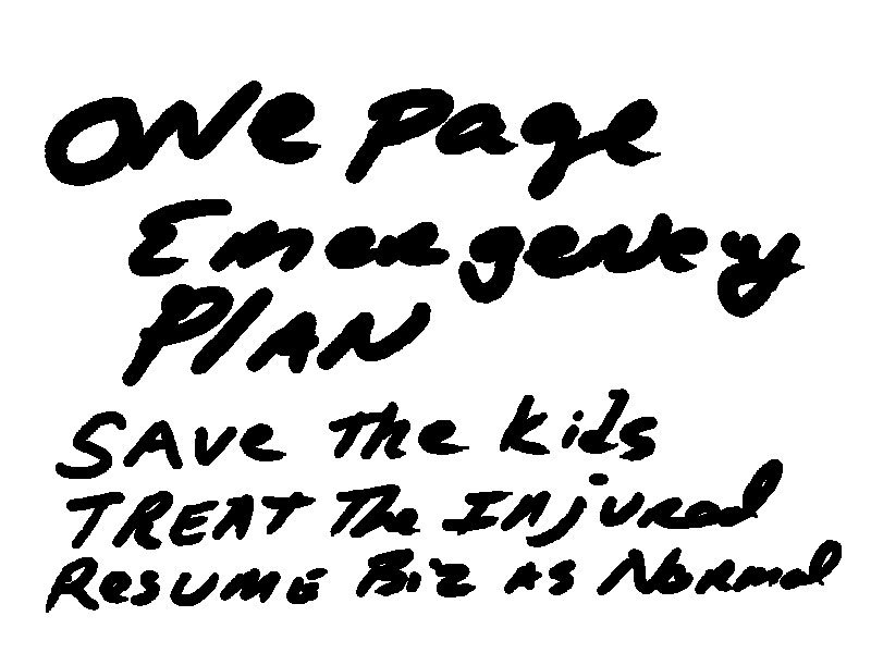 one page emergency plan