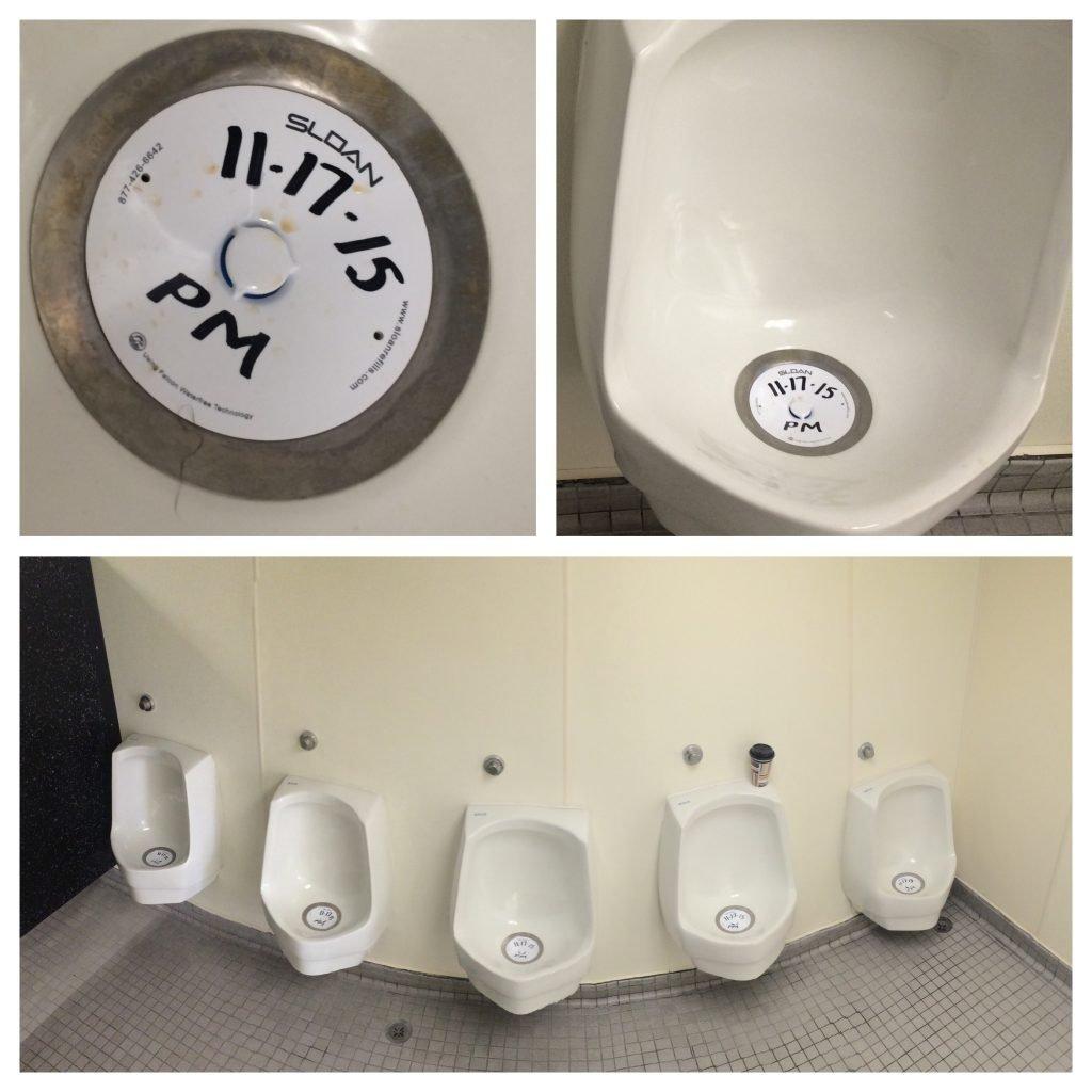 urinals stink